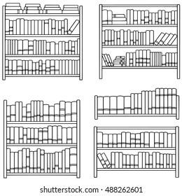Book Shelf Drawing Images Stock Photos Vectors Shutterstock