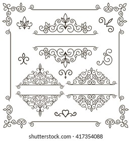vector set - borders and frames