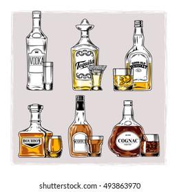Tequila Bottle Images, Stock Photos & Vectors | Shutterstock