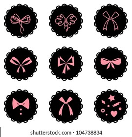 Vector set of bow icons