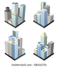 Vector set of buildings.