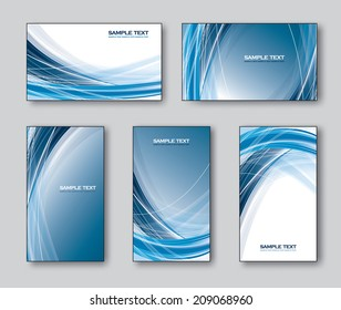 Vector Set of Business Cards or Gift Cards.