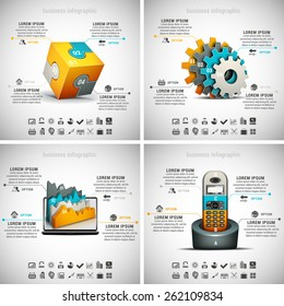 Vector set of business infographics. Vol.10.