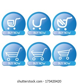 Vector Set Of Button For On line Shopping Isolated