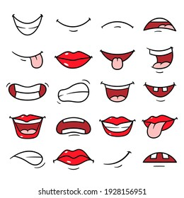 Vektorset Cartoon Mouths