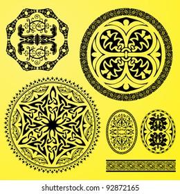vector set: celtic ornaments, decorations and borders