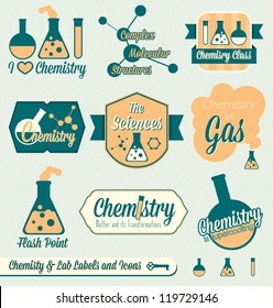 Vector Set: Chemistry Class Labels and Icons