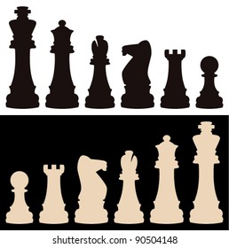 vector set of chess pieces