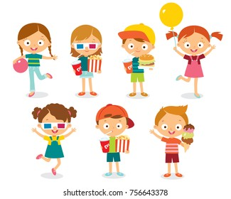 Vector set of children