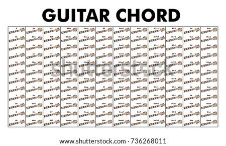 Vector Set Chord Diagram Tab Tabulation Stock Vector Royalty Free