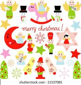vector set of christmas 27