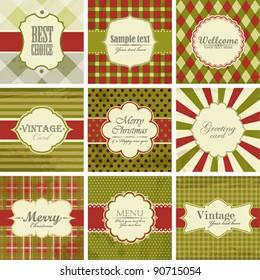 Vector set of christmas vintage backgrounds.