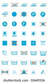 Vector Set Of Clothing Care Symbols