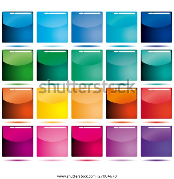 Vector Set of color icons.