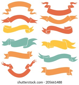 Vector Set of Color Ribbons for Your Text