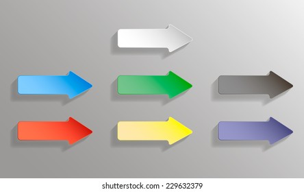Vector set of colored arrows  Illustrator EPS