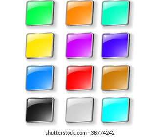 the vector set of colored buttons