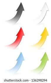 Vector set - Colorful arrows