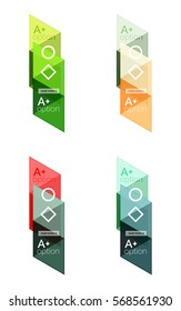 Vector set of colorful geometric infographics for workflow layout, diagram, number options or navigation web design