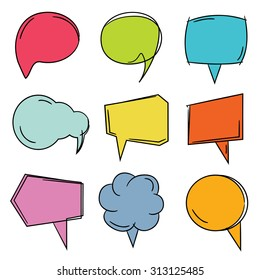 vector set of colorful speech bubbles
