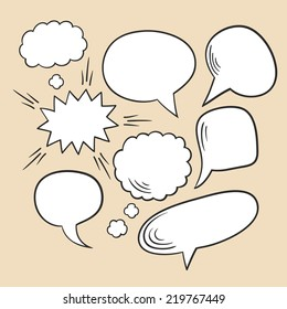 Vector set of comic speech bubbles