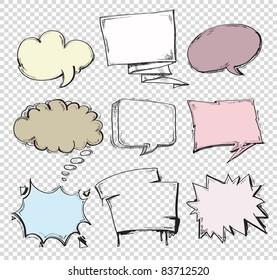 vector set of comics