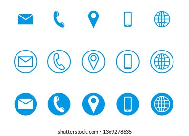 Vector set of contact line icons