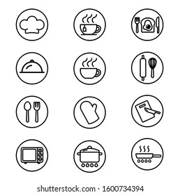 Vector set of cooking icons.