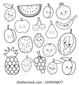Fruit Coloring Page Images, Stock Photos & Vectors   Shutterstock   280x260
