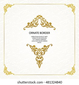 Vector set  decorative frame. Elegant element for design template, place for text.Floral border. Lace decor for birthday and greeting card, wedding invitation.