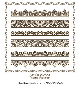 Vector set of design elements: Ornate Borders