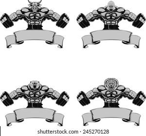 Vector set, Design medals, symbols