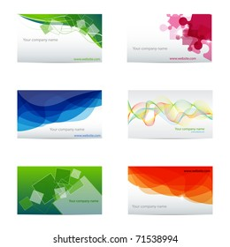 Vector set with different business cards