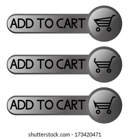 Vector Set Of Different Buttons For On line Shopping Isolated