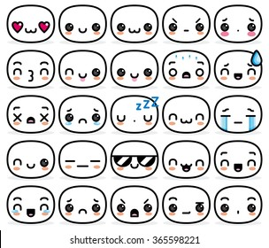 Vector Set Of Different Cartoon Faces
