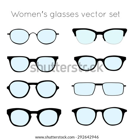 Vector Set Different Glasses On White Stock Vector (Royalty Free ...