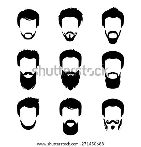 3660cab1ab9 Vector Set Different Men Hipster Haircuts Stock Vector (Royalty Free ...