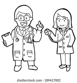 vector set of doctors