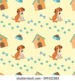 Vector set with dog