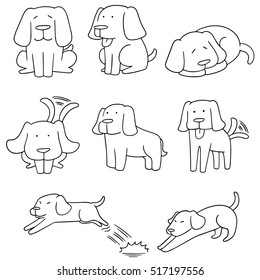 vector set of dog, labrador retriever