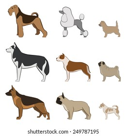 Vector set dogs