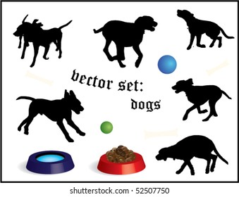 vector set: dogs