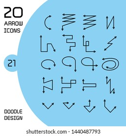 vector set of double heads arrows icons