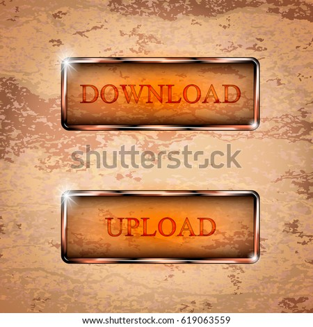Vector Set Download Transparent Buttons Stock Vector Royalty Free