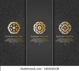Vector set of emblem with elegant, classic elements. Can be used for logo and monogram. Great for invitation, flyer, menu, brochure, background or any desired idea.