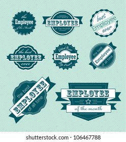 Vector Set: Employee of the Month Label