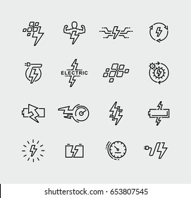 Vector set energy symbols and logo design elements
