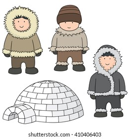 vector set of eskimo