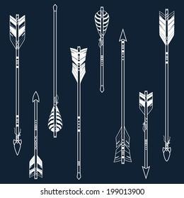 Vector set of ethnic arrows
