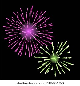 vector set for firework. suitable for new year celebration, holiday decoration and party event decoration.